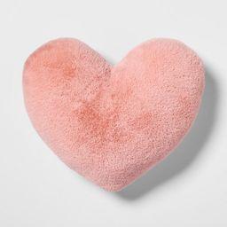 Heart Faux Fur & Velvet Throw Pillow Pink - Pillowfort™   Target