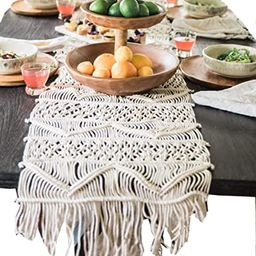 Macrame Table Runner Boho Wedding Décor 13.8x118 Inch | Amazon (US)