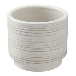 "Better Homes & Gardens 6"" Teramo Round Ceramic Planter, White | Walmart (US)"