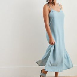 Aerie Chambray Midi Slip Dress | American Eagle Outfitters (US & CA)