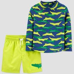 Toddler Boys' 2pc Swim Gator Rash Guard Set - Just One You® made by carter's Green/Yellow | Target