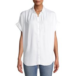 Time and Tru Women's Button Front Shirt with Rolled Sleeves   Walmart (US)