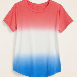 EveryWear Americana Dip-Dye Tee for Women   Old Navy (US)