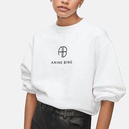 Ramona Sweatshirt Monogram - White | ANINE BING
