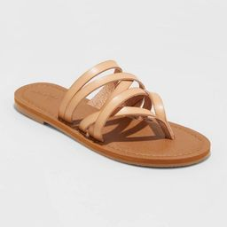 Women's Maritza Multi Strap Toe Slide Sandals - Universal Thread™ | Target