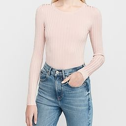 Ribbed Crew Neck Sweater   Express