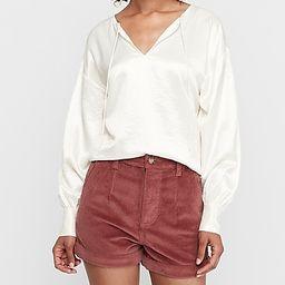 Super High Waisted Corduroy Trouser Shorts   Express