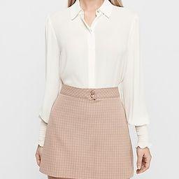 High Waisted Textured Grid A-line Mini Skirt   Express