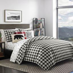 Eddie Bauer Mountain Plaid Comforter Set, Black, Full/Queen | Kohl's