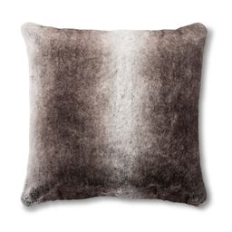 Neutral Faux Fur Throw Pillow - Threshold™ | Target