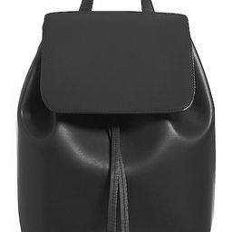 Mansur Gavriel Coated Mini Backpack in Black | FWRD