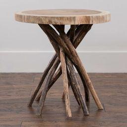 Stilwell Solid Wood Tree Stump End Table Loon Peak Table Base Color: Natural | Wayfair North America