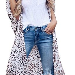 Women's Chiffon Blouse Loose Tops Beach Kimono Floral Print Cardigan   Amazon (US)