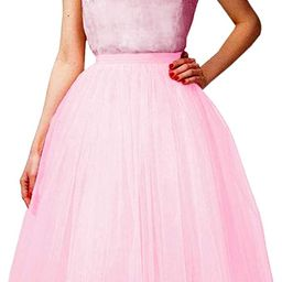 Wedding Planning Women's A Line Short Knee Length Tutu Tulle Prom Party Skirt | Amazon (US)