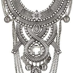 Womens Ethnic Tribal Boho Beads Coin Tassels Chain Necklaces Long Belly Dance Bohemian Jewelry | Amazon (US)