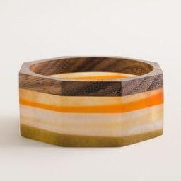 Wide Neutral-Patterned Octagonal Wood Cuff Bracelet   Chico's