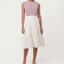Floral Embroidered Tiered Midi Skirt | LOFT | LOFT