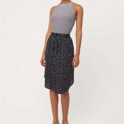 Dot Striped Mixed Media Flare Dress | LOFT | LOFT