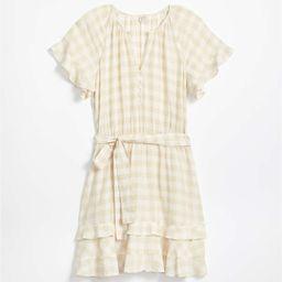LOFT Beach Gingham Tie Waist Dress | LOFT | LOFT
