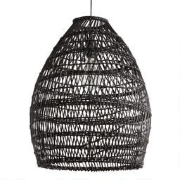 Black Woven Bamboo Pendant Shade | World Market