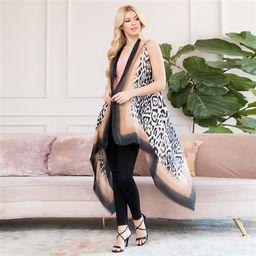 Riah Fashion Ombre Leopard Printed Kimono Cardigan | Walmart (US)