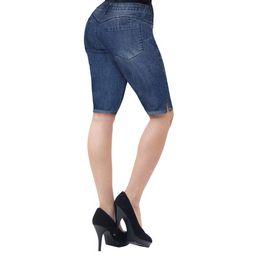 Hybrid & company - HyBrid & Company Womens 11.5 inch Inseam Butt Lift Stretch Bermuda Shorts, B37... | Walmart (US)