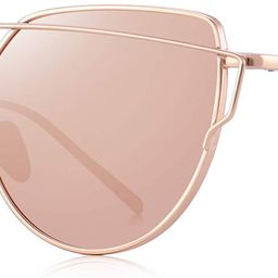 S7882 anteojos de sol de la moda las mujeres, ojo de gato, revestimiento lente de espejo anteojos...   Amazon (US)