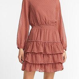 Clip Dot Tiered Smocked Waist Dress | Express