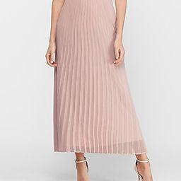 High Waisted Pleated Maxi Skirt | Express