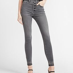 High Waisted Black Button Fly Skinny Jeans | Express