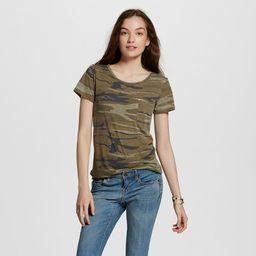 Women's Short Sleeve Camo Print Graphic T-Shirt - Zoe+Liv (Juniors') Green | Target