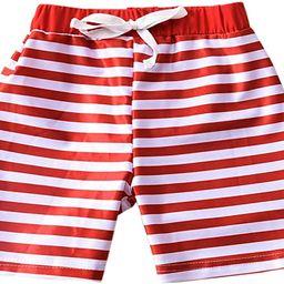 HIHA Baby Boy Swim Trunks, Toddler Stripe Beach Swim Shorts Bathing Suit Toddler Boy Swimwear | Amazon (US)