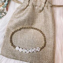 Name Bracelet- Gold and White Letters | Etsy (US)