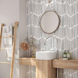 Minimalist Removable Wallpaper. Chevron Wallpaper. Modern Wallpaper. Peel and stick Wallpaper. Se... | Etsy (US)