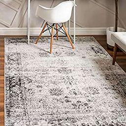 Unique Loom Sofia Traditional Area Rug, 8' 0 x 11' 0, Gray | Amazon (US)