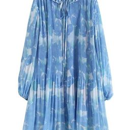 'Hayley' Floral Frilled Pleated Silky Dress | Goodnight Macaroon