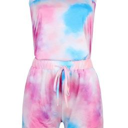 'Trista' Off The Shoulder Tie Dye Tied Waist Romper (2 Colors) | Goodnight Macaroon