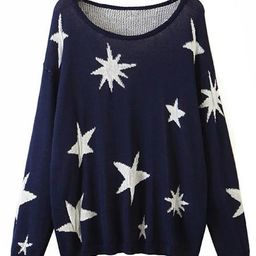 'Lisa' Star Pattern Lightweight Sweater | Goodnight Macaroon