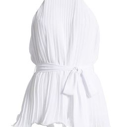 'Bubu' Halter-neck Pleated Belted Swing Top (3 Colors) | Goodnight Macaroon