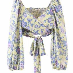 'Angela' Floral Wrap Tied Top | Goodnight Macaroon