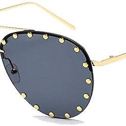 BVAGSS Women Rimless Oversized Studded Sunglasses Gradient Lens Rivet Fashion WS027 | Amazon (US)