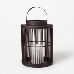 Vertical Weave LED Battery Operated Outdoor Lantern - Threshold™   Target