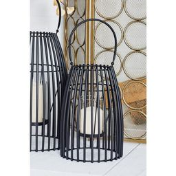 Black Cage-Inspired Candle Lantern with Handle   The Home Depot