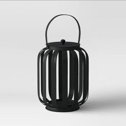 Metal Strip Outdoor Lantern Black - Project 62™   Target
