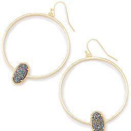 Elora Gold Hoop Earrings In Multicolor Drusy | Kendra Scott