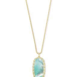 Macrame Reid Gold Long Pendant Necklace In Aqua Illusion | Kendra Scott