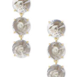 Jolie Gold Statement Earrings in Gray Illusion | Kendra Scott