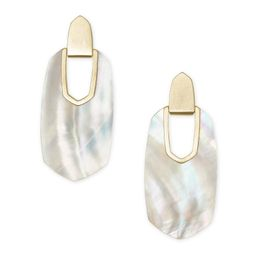 Kailyn Gold Statement Earrings in Ivory Mother-of-Pearl | Kendra Scott