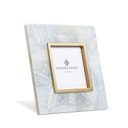 4x4 Photo Frame in Crackle White Pearl | Kendra Scott