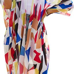 Women's Sheer Chiffon Floral Kimono Cardigan Long Blouse Loose Tops Outwear | Amazon (US)